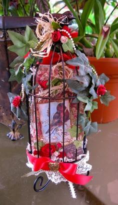 tag album in a birdcage