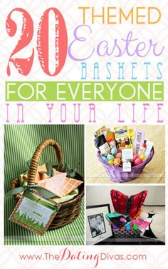 So many fun themed Easter basket ideas!!
