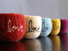 felt felt bowl, felt wool, accessori, colors, ring bearer pillows, felted wool, wool bowl, black friday, bowls