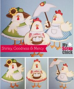 Shirley, Goodness & Mercy Chicks: click to enlarge