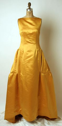 Evening Dress, James Galanos, 1960s, American, silk