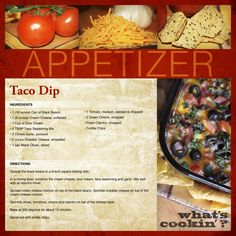 Taco Dip Recipe - digital scrapbooking layout #digiscrap