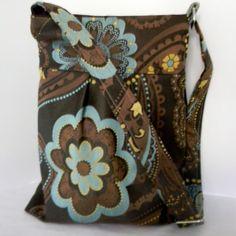 Cross Body Hobo Bag with pleats messenger by AnOrangeBlossomBag, $64.00