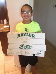 Jordan is super excited about his new #BaylorProud sign! #RGIII #BaylorWeAre