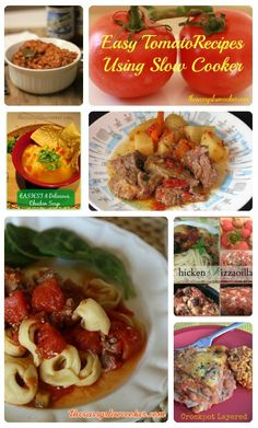 10 Easy Tomato Recipes Using the Slow Cooker http://www.thesassyslowcooker.com/10-easy-tomato-recipes-using-slow-cooker/ #slowcooker #recipes