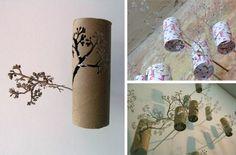 25 Creative DIY Toilet Paper Roll Wall Art - interesting  cheap DIY decor