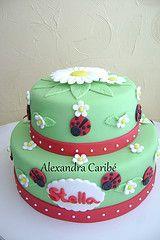 Bolo joaninha- lady bug cake
