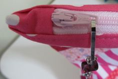 How to Sew  a Zipper into a Bag - Free Tutorial by Patchouli Moon