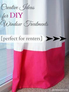 six creative and cheap window treatments