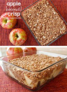 best holiday apple crisp recipe!! uses healthy coconut flour, coconut sugar, & coconut oil! healthy gluten-free dessert!