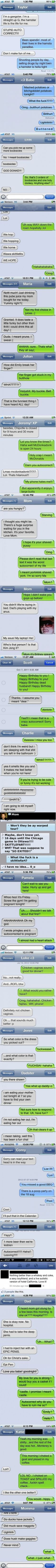 Best autocorrects of 2012 ~ SO FUNNY!!!!! some foul language