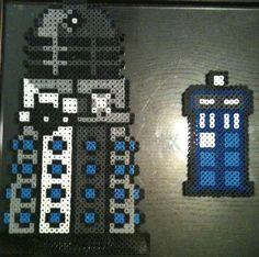 Perler Bead Creations Doctor Who Tardis Dalek by ~Rhys-Michael on deviantART