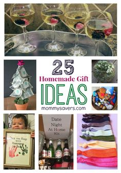 25 Days of Easy Homemade Gift Ideas and Frugal Holiday Gift Ideas - Easy gifts to make that don't cost much by Mommysavers.com