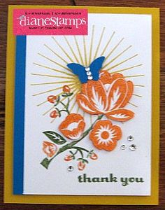 Hey There Buds Thank You Card from Stampin'Up!