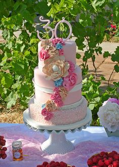 Lily's 30th by Whimsy Cakes, via Flickr
