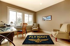 #FlyNavy Logo Rug - Buy Military Rugs Online