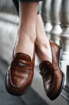 Penny loafers.