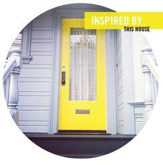 door colors, front doors, yellow door, paint