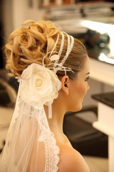 penteado noiva. #lindo #amazing #noiva #penteado #hair #bride #cabelo