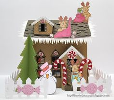 """gingerbread house made with the cricut cartridge """"winter wonderland"""""""
