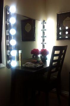 diy 39 s on pinterest makeup vanities vanities and hangers. Black Bedroom Furniture Sets. Home Design Ideas