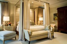 modern bedroom POWELL & BONNELL
