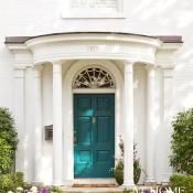 white houses, the doors, idea, blue doors, front doors, frontdoor, paint, front door colors, blues
