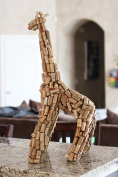 Recycled corks into Giraffe sculpture     (my personal images are used in my #audio  #ebooks for #Children 3-7 and #Illustrative #Poetry, available at www.jamesagrove.ca)