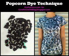 Popcorn Tie-Dye Technique!
