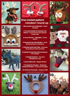 Special Edition Saturday   Free Reindeer Crochet Pattern Round Up!