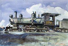 D. & R. G. Locomotive, 1925  Edward Hopper