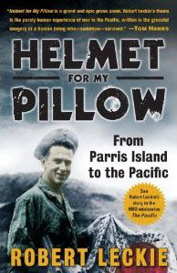 The 2010 HBO mini-series The Pacific was adapted in large part from Helmet for My Pillow, a personal narrative written by World War II United States Marine Corps veteran, author and military historian Robert Leckie.  Great read!