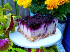 "#Blackberry #Lemon ""Cheesecake"" #Bars 