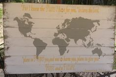 Pallet Art Map of the World World Map by RescuedandRepurposed, $175.00