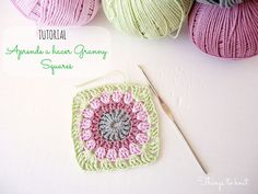Tutorial para hacer granny squares - very pretty color combo, found on the official blog of DMC Spain