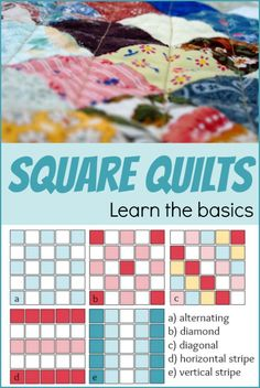 The square quilt is