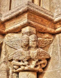 Millana, La Alcarria, provincia de Guadalajara - Capitel románico de la iglesia de Santo Domingo de Silos