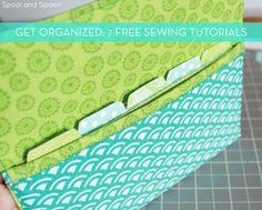 Handmade fabric coupon organizer.