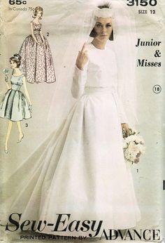 Sew-East Advance vintage wedding dress pattern