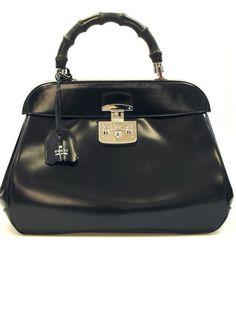 Black Leather Handbags for Women