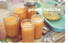 Peach Vanilla Freezer Jam