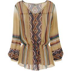 Haute Hippie Printed silk-chiffon blouse