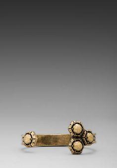 antique brass cuff