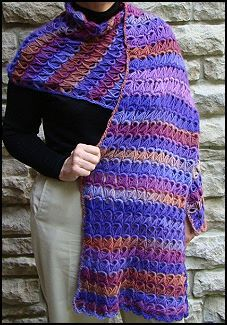 Broomstick Lace Stole - free crochet pattern on Straw.com.