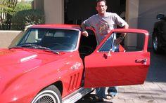 CBS Survivor Host Jeff Probst and his 1966 Corvette Coupe