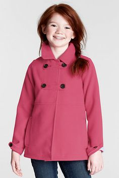 Girls' Sportswear Fleece Jacket from Lands' End