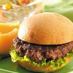 Teriyaki Beef Burgers  This recipe sounds like a nice twist on burgers.