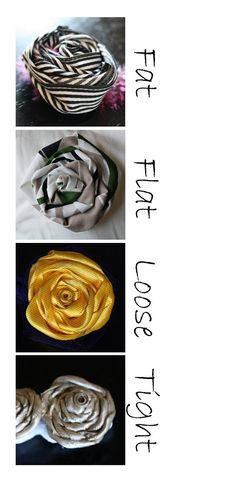 the letter 4: Fabric Flower Tutorial