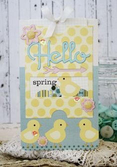 Hello Spring Card by Melissa Phillips for Papertrey Ink (April 2014)