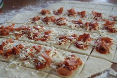 DIY Homemade Pizza Rolls - great to make and freeze, too!